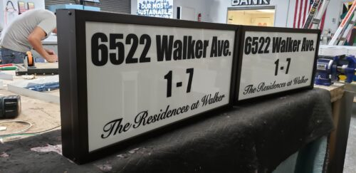 address lightbox sign