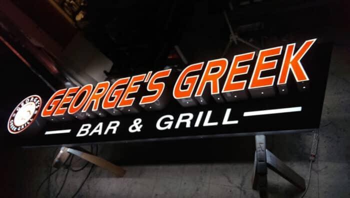 channel letter bar sign