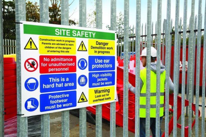 construction site sign