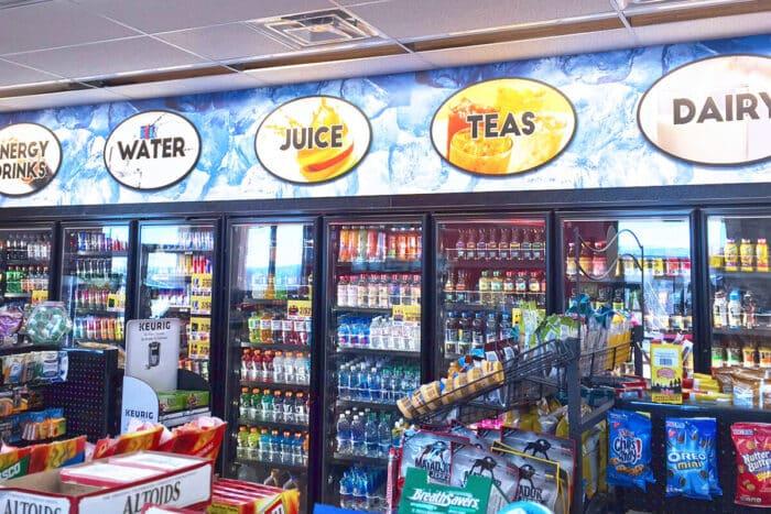 convenience store indoor signage