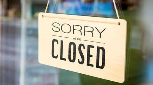closed door signage