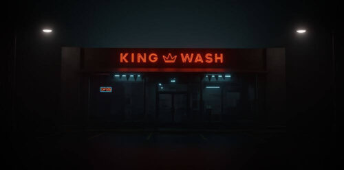 led laundromant sign