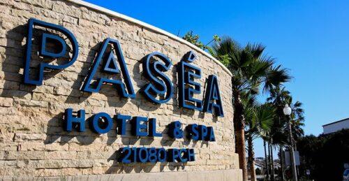 hotel exterior signage