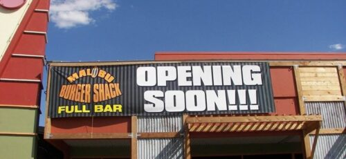 new opening business sign