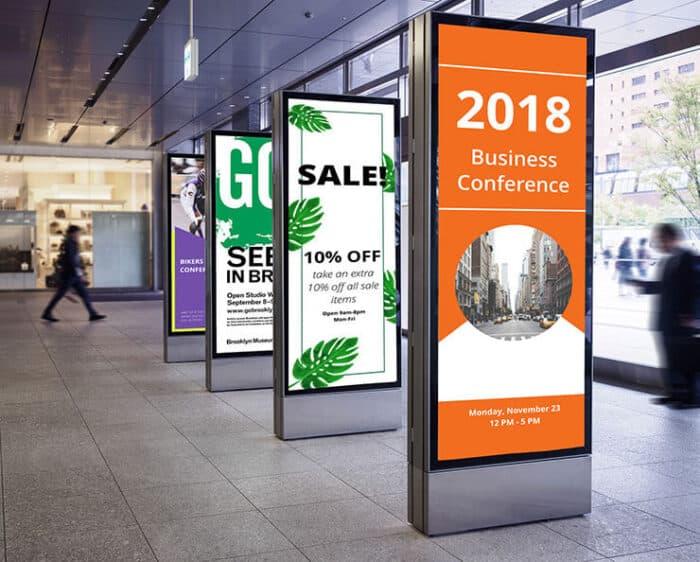 mall digital sign