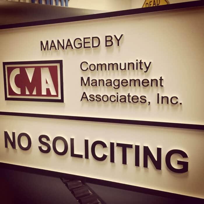 management sign