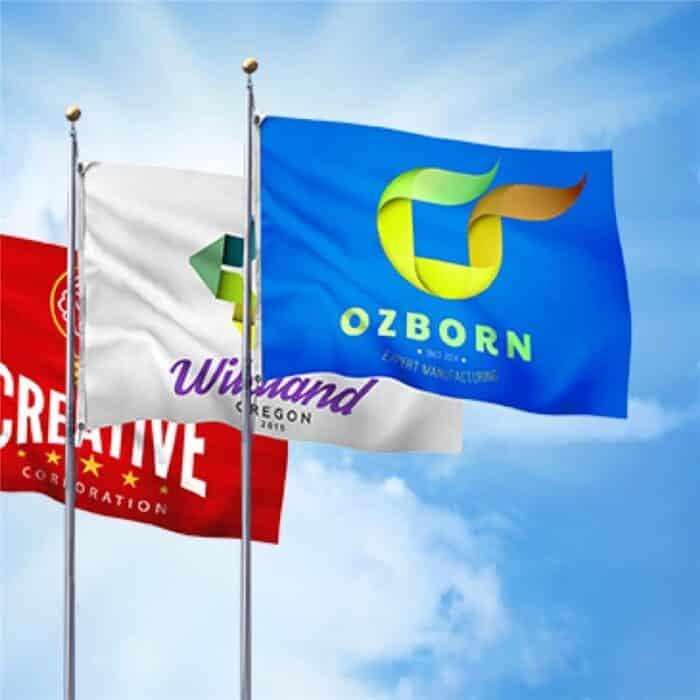 printed flag signs