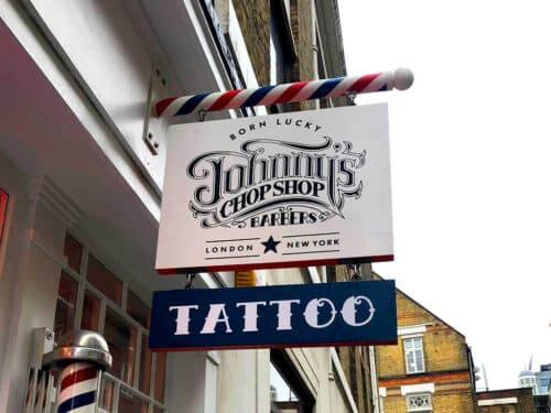 barbershop blade sign