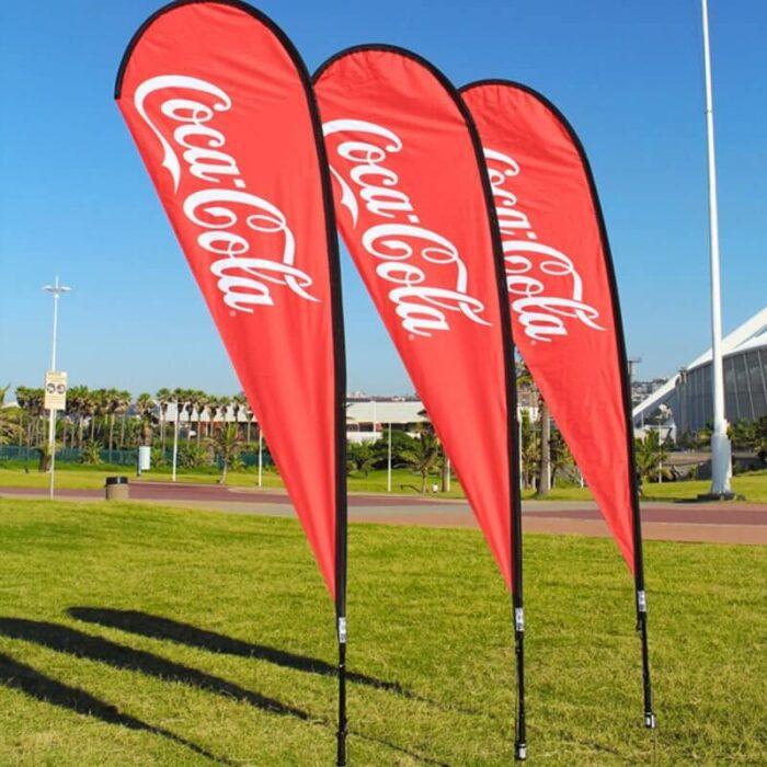 coca cola flag signs