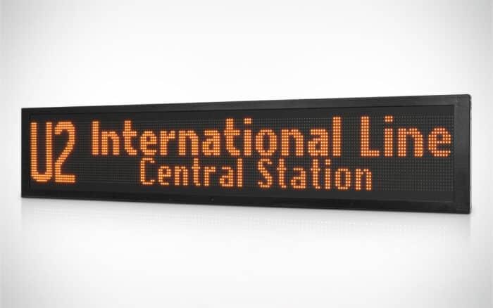 led informational sign