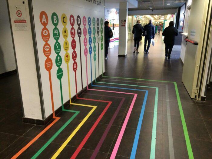 wayfinding floor signs
