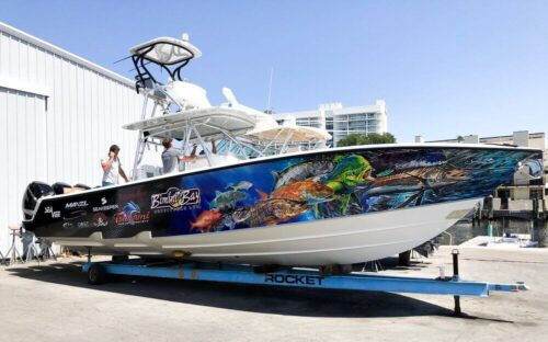 business boat wrap