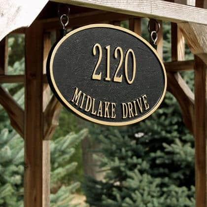 hanging address sign