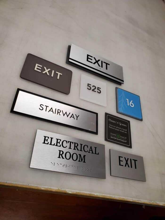room identification sign
