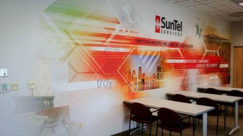 Digital print on the wall