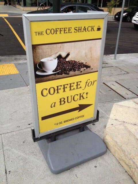 coffee shop sidewalk sign