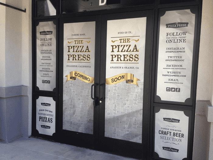shop door lettering
