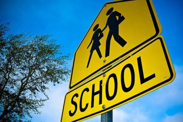 school sign